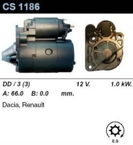 Купить стартер CS1186 для Renault, Dacia