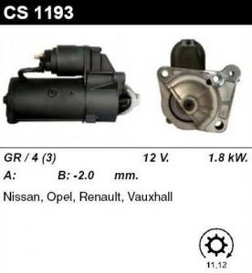 Купить стартер CS1193 для Opel, Renault, Nissan, Mitsubishi