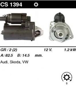 Купить стартер CS1394 для Audi, VW, Jaguar, Toyota