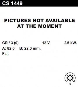 Купить стартер CS1449 для Fiat, Citroen, Peugeot