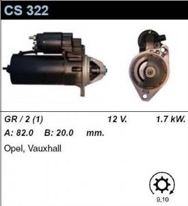 Купить стартер CS322 для OPEL