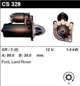 Купить стартер CS329 для Ford, Land Rover Discovery 1993-1998