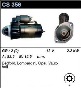 Купить стартер CS356 для OPEL