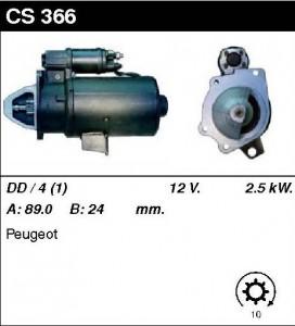 Купить стартер CS366 для Peugeot J9