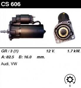 Купить стартер CS606 для VW Passat, AUDI 80, 90