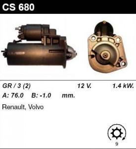 Купить стартер CS680 для Volvo, Renault
