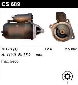 Купить стартер CS689 для Iveco Daily, Fiat CAMPAGNOLA