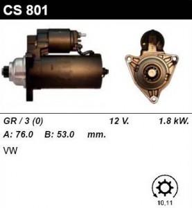 Купить стартер CS801 для VW Transporter