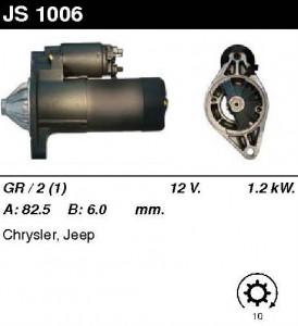 Купить стартер JS1006 для JEEP