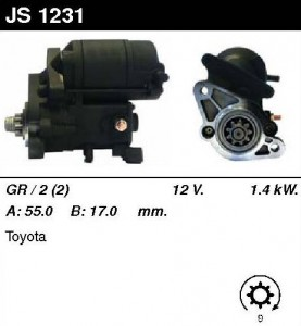Купить стартер JS1231 для Toyota Land Cruiser 90 Prado, 4 Runner