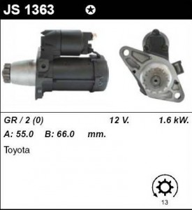 Купить стартер JS1363 для Toyota Avensis, Camry
