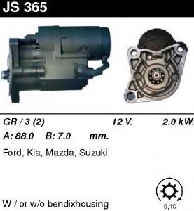 Купить стартер JS365 для Mazda, KIA