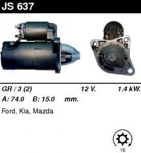 Купить стартер JS637 для Mazda, KIA