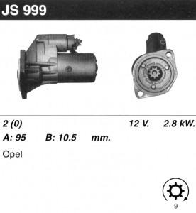 Купить стартер JS999 для Isuzu Trooper, OPEL Monterey, Frontera