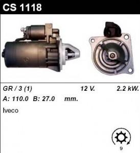 Купить стартер CS1118 для Iveco