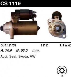 Купить стартер CS1119 для VW, Skoda, Seat, AUDI