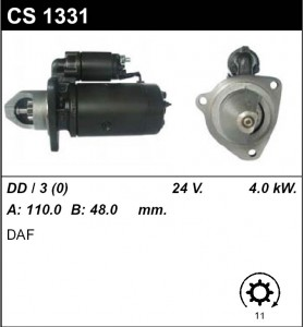 Купить стартер CS1331 для DAF 24V, VW, Seat, Skoda, Land Rover Range Rover
