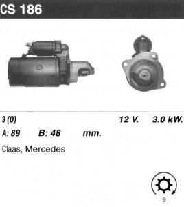 Купить стартер CS186 для Mercedes T2 (CS120-12V)