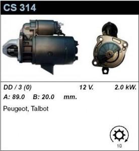 Купить стартер CS314 для Peugeot