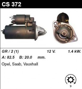 Купить стартер CS372 для OPEL, SAAB