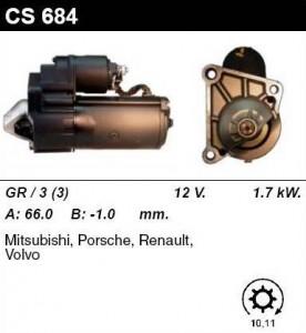 Купить стартер CS684 для Renault, Mitsubishi, Volvo