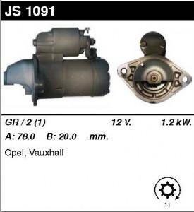 Купить стартер JS1091 для OPEL Vectra, Astra, Combo