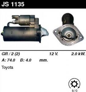 Купить стартер JS1135 для Toyota Avensis, Corolla, Carina