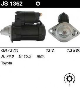 Купить стартер JS1362 для Toyota Corolla, Avensis