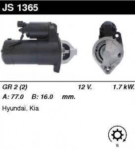 Купить стартер JS1365 для Hyundai, KIA