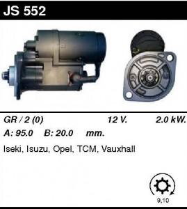 Купить стартер JS552 для Isuzu Campo, Trooper, Komatzu