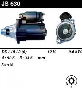 Купить стартер JS630 для Suzuki Alto 1986-1993