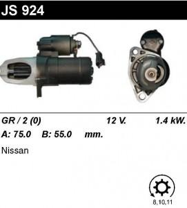 Купить стартер JS924 для Nissan Maxima