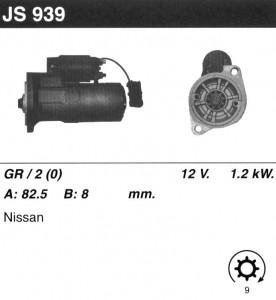 Купить стартер JS939 для Nissan Terrano, Ford Maverick